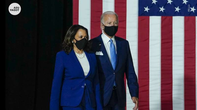a man wearing a suit and tie: President-elect Joe Biden and Vice President-elect Kamala Harris were collectively chosen as Time Magazine's Person of the Year for 2020.