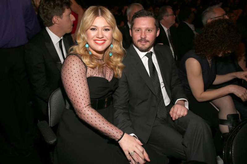 Brandon Blackstock, Kelly Clarkson posing for the camera: The 55th Annual GRAMMY Awards - Backstage And Audience (Christopher Polk / Getty Images for NARAS)