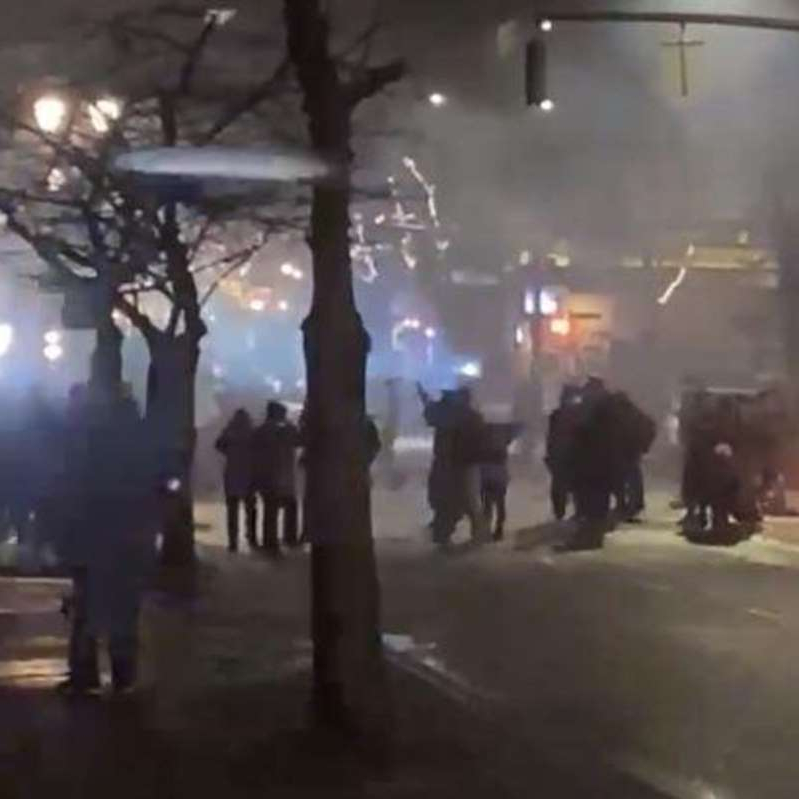 Portland police declare a riot as New Year's Eve protest gets out of control