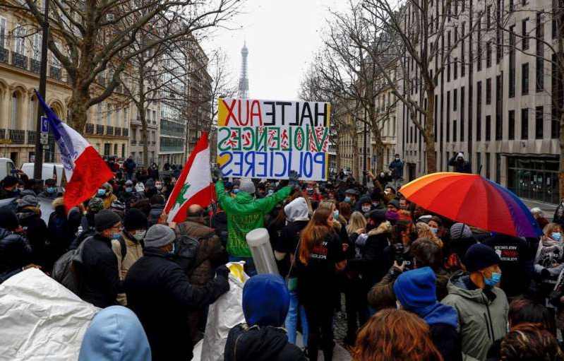 Us News Cedric Chouviat Case Hundreds Of Demonstrators In Paris One Year After His Death Pressfrom United Kingdom