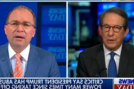 Chris Wallace, Mick Mulvaney are posing for a picture: Fox News Sunday Chris Wallace Mick Mulvaney