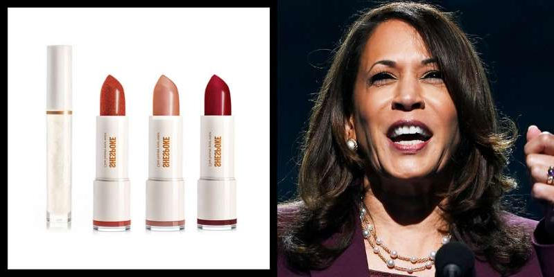 Kamala Harris smiling for the camera: The new limited-edition lipstick collection from SHESPOKE, co-founded by Stephanie March of Law & Order SVU fame, is inspired by Vice President Kamala Harris.