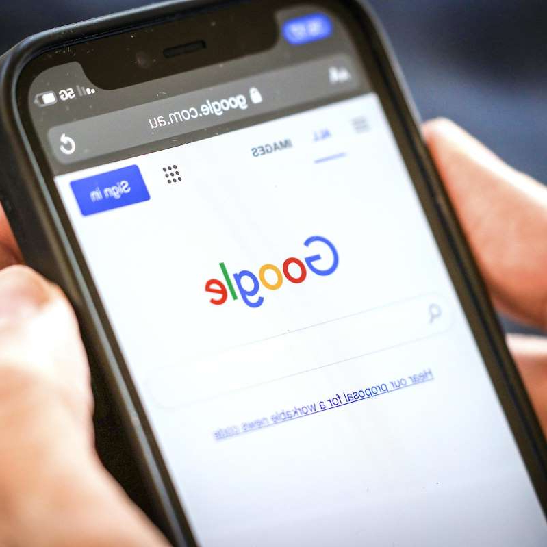 graphical user interface, text, application, chat or text message: Google Threatens to Remove Search in Australia as Spat Escalates