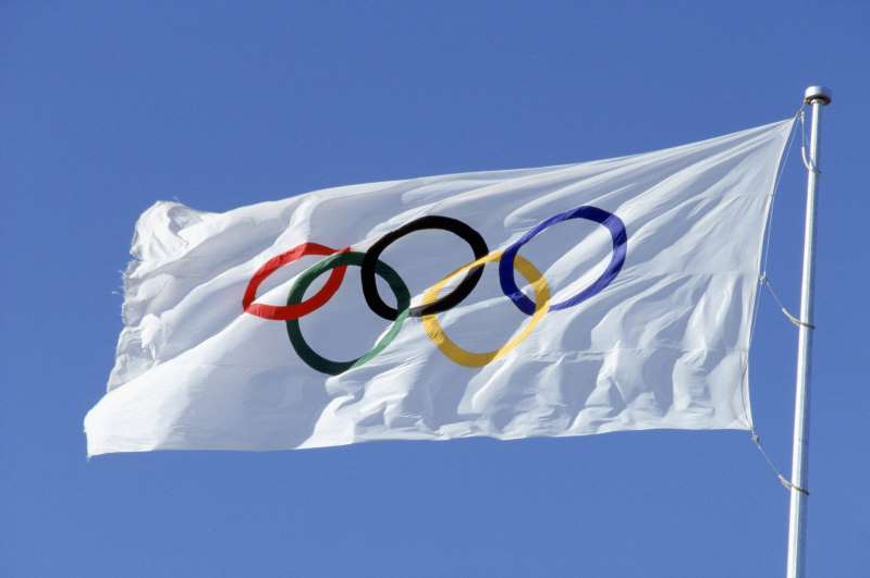a close up of a flag: Florida now wants to host the Olympics if Tokyo backs out. Getty