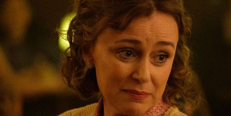 Keeley Hawes looking at the camera: The 44 year-old actress plays lead character Ritchie's mother Valerie in the hit Channel 4 series - and reveals how she gave her unlikeable character empathy.