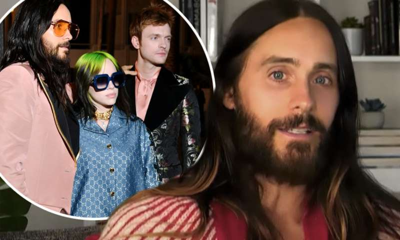 Jared Leto, Finneas O'Connell posing for the camera: MailOnline logo