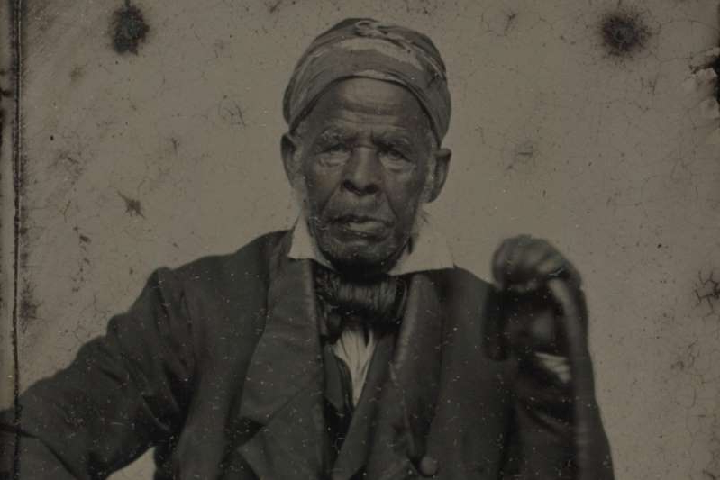 a man wearing a suit and tie: Omar ibn Said, born in Senegal in 1770, held onto Islamic practices while enslaved for decades in the US [Beinecke Rare Book and Manuscript Library, Yale University]