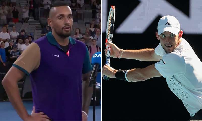 Nick Kyrgios standing in front of a crowd: MailOnline logo