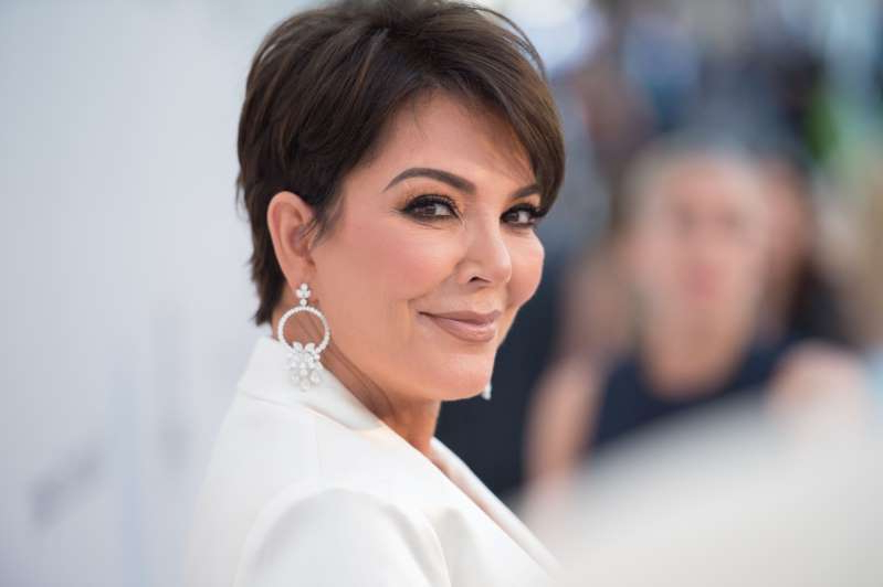 Kris Jenner looking at the camera