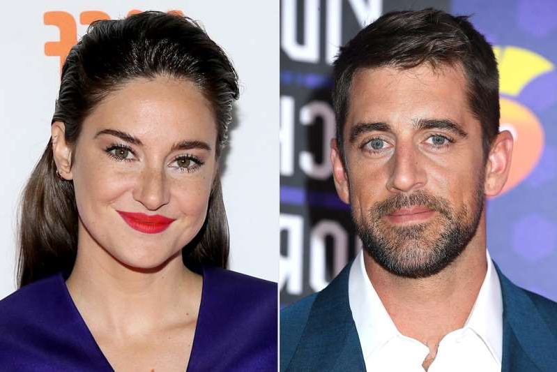 Aaron Rodgers, Shailene Woodley are posing for a picture: Getty (2) Aaron Rodgers, Shailene Woodley