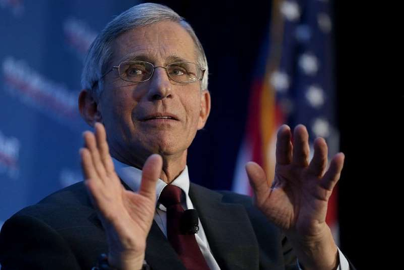 Anthony S. Fauci talking on a cell phone:  on January 29, 2016 in Washington, DC.
