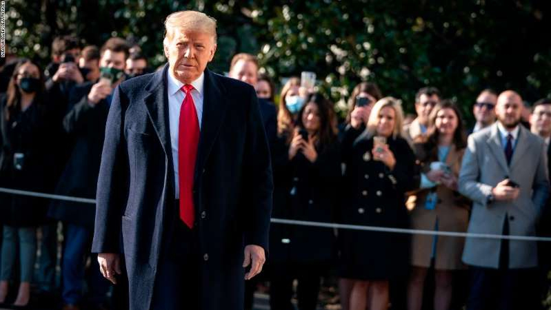 Donald Trump wearing a suit and tie standing in front of a crowd: The Manhattan district attorney's office is expected to have access to tax returns and financial records for Donald Trump and Trumg Org within the next few days. (Photo by Drew Angerer/Getty Images)