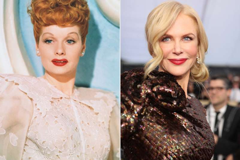 Nicole Kidman, Lucille Ball are posing for a picture: Christopher Polk/Getty Images; Herbert Dorfman/Getty Images