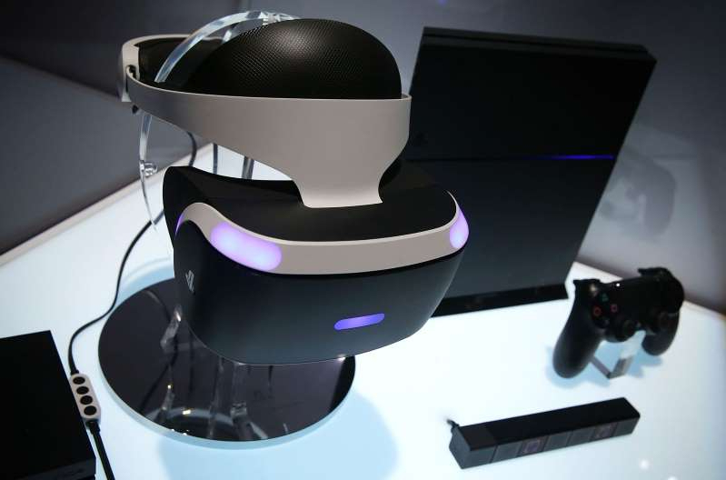The PlayStation VR headset for the PlayStation 4.