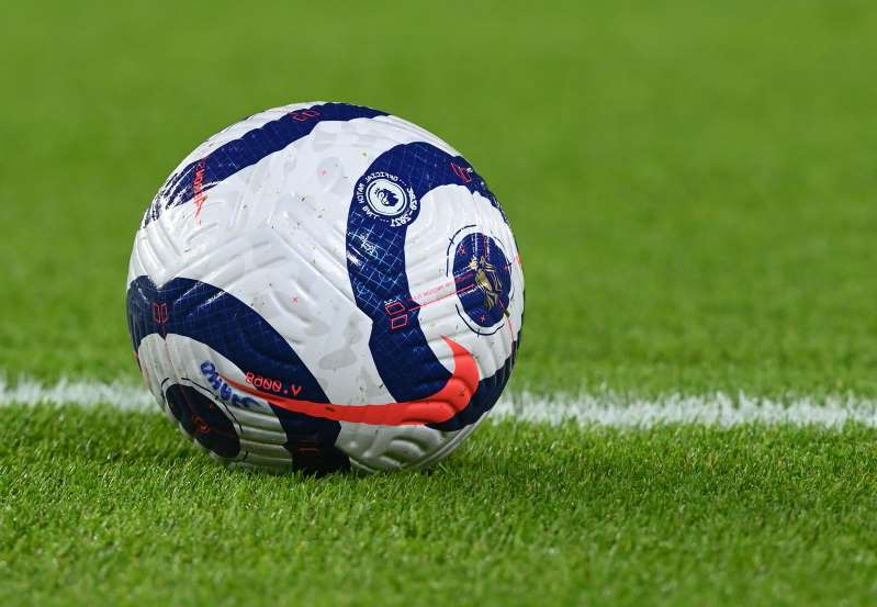 a close up of a football field: Premier League - Brighton & Hove Albion v Crystal Palace