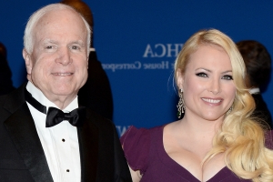 See the emotional photos Meghan McCain left on dad's grave