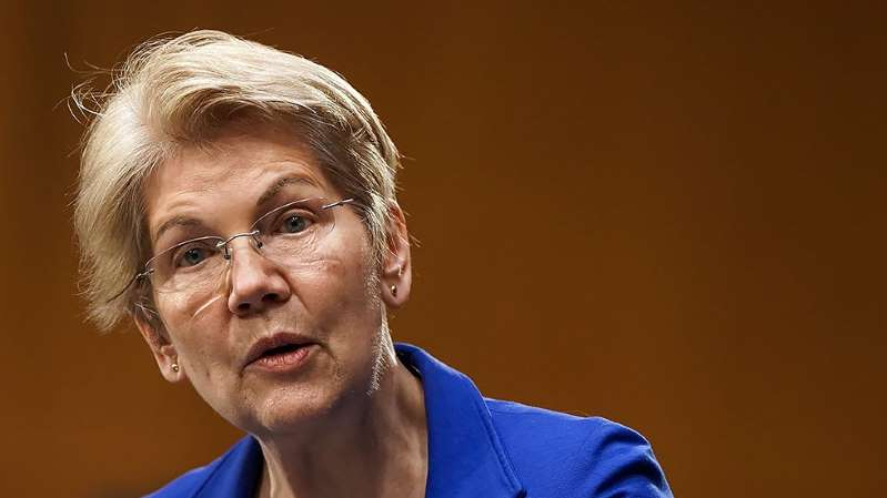 a close up of Elizabeth Warren wearing a blue shirt: Sen. Elizabeth Warren (D-Mass.)