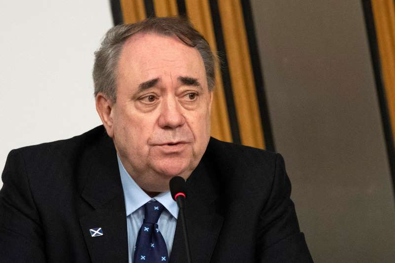 Alex Salmond wearing a suit and tie: Scotland's former First Minister Salmond gives evidence to a Scottish Parliament committee at Holyrood, in Edinburgh