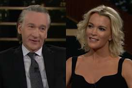 Megyn Kelly, Bill Maher are posing for a picture: Megyn Kelly Bill Maher