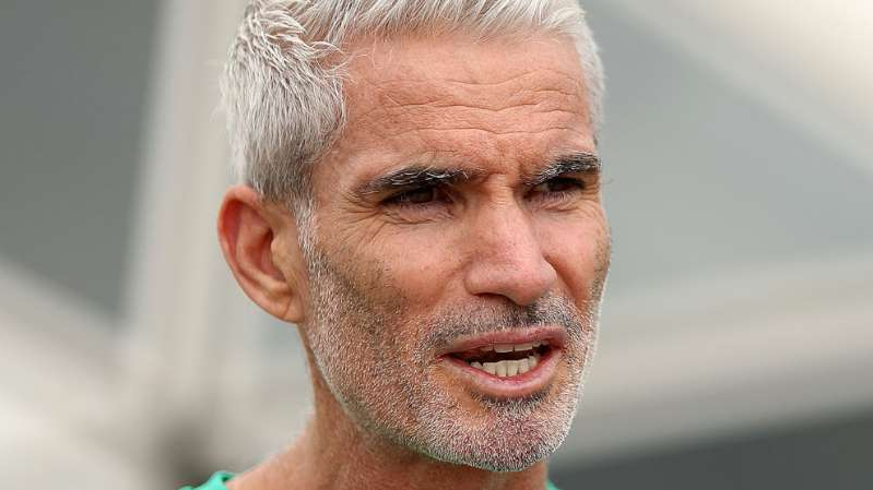 a close up of Craig Foster with a beard looking at the camera: Craig Foster.
