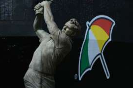 A statue of Arnold Palmer is seen at Bay Hill Club & Lodge in Orlando.