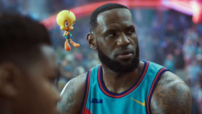 LeBron James in a blue shirt: Space Jam: A New Legacy
