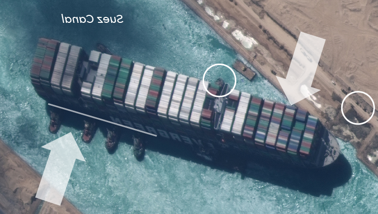 How the Suez Canal container ship was refloated