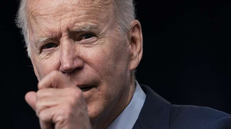 Joe Biden wearing a suit and tie: President Biden speaking about the American Jobs Plan on Wednesday. (Evan Vucci/AP)