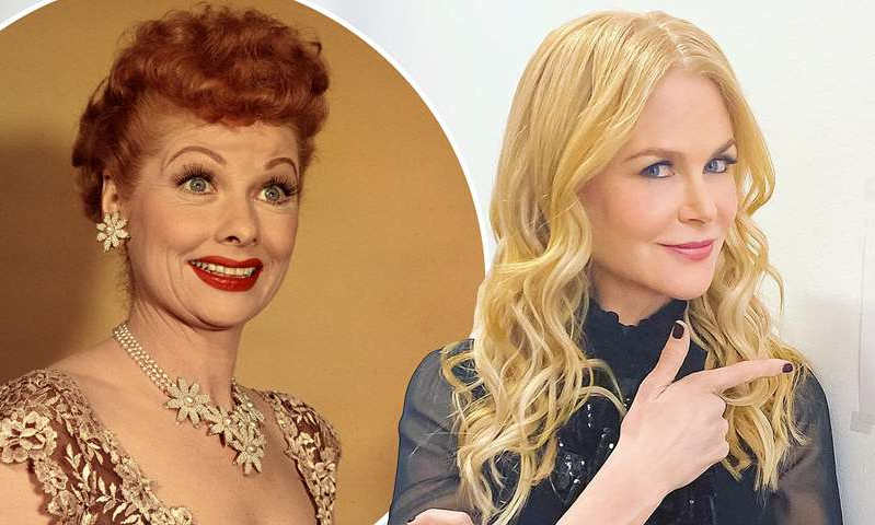 Nicole Kidman, Lucille Ball are posing for a picture: MailOnline logo