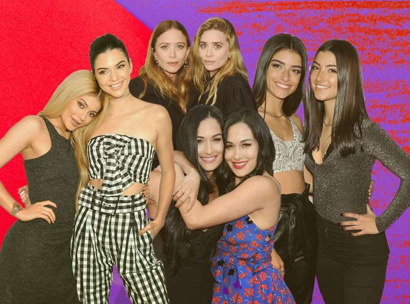 The Bella Twins, The Bella Twins, Mary-Kate Olsen, Mary-Kate Olsen, Kylie Jenner posing for a photo: Getty Images