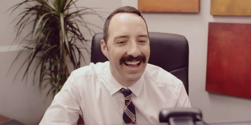 Tony Hale wearing a neck tie: First trailer arrives for Eat Wheaties! movie, starring Scrubs actress Sarah Chalke, Arrested Development star Tony Hale and New Girl actor Lamorne Morris.