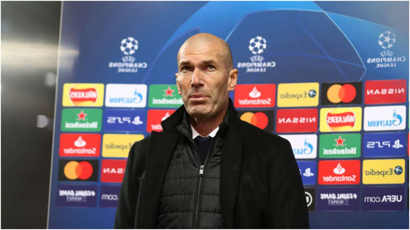 graphical user interface, application: Real Madrid boss Zinedine Zidane