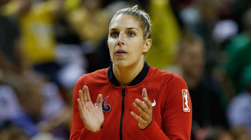 Sep 7, 2018; Seattle, WA, USA; Washington Mystics forward Elena Delle Donne (11) claps before the start of game one of the WNBA finals against the Seattle Storm at KeyArena.