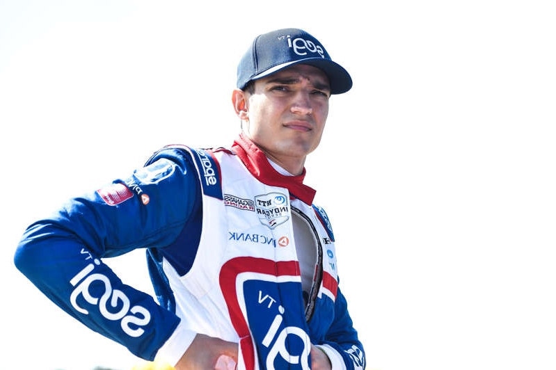 a man wearing a hat: Alex Palou landed his first IndyCar victory Sunday at Barber Motorsports Park, riding a two-stop strategy to edge out Will Power.