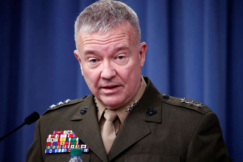 FILE - In this April1 14, 2018, file photo, then-Marine Lt. Gen. Kenneth