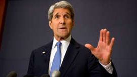 John Kerry wearing a suit and tie: Kerry faces calls to step down over leaked Iran tapes