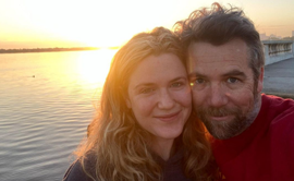 Patrick Brammall, Harriet Dyer are posing for a picture: Patrick Brammall has popped the question AND married Harriet Dyer all in a whirlwind five-day vacation.