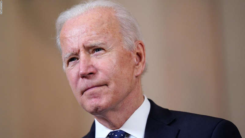 Joe Biden wearing a suit and tie: President Joe Biden speaks Tuesday, April 20, 2021, at the White House in Washington, after former Minneapolis police Officer Derek Chauvin was convicted of murder and manslaughter in the death of George Floyd. (AP Photo/Evan Vucci)