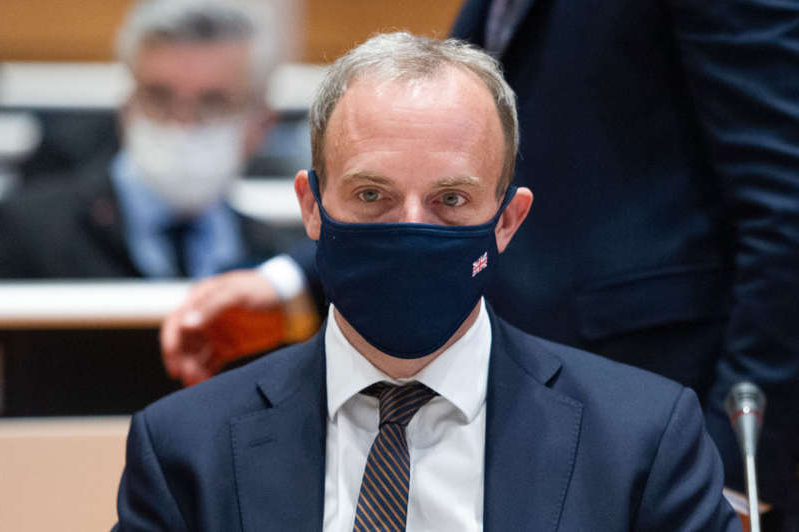 a man wearing a suit and tie: Foreign Secretary Dominic Raab will host the meeting in London (Photo: Handout / UNITED NATIONS / AFP)