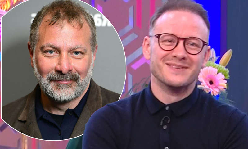 Kevin Clifton, Jed Mercurio are posing for a picture: MailOnline logo