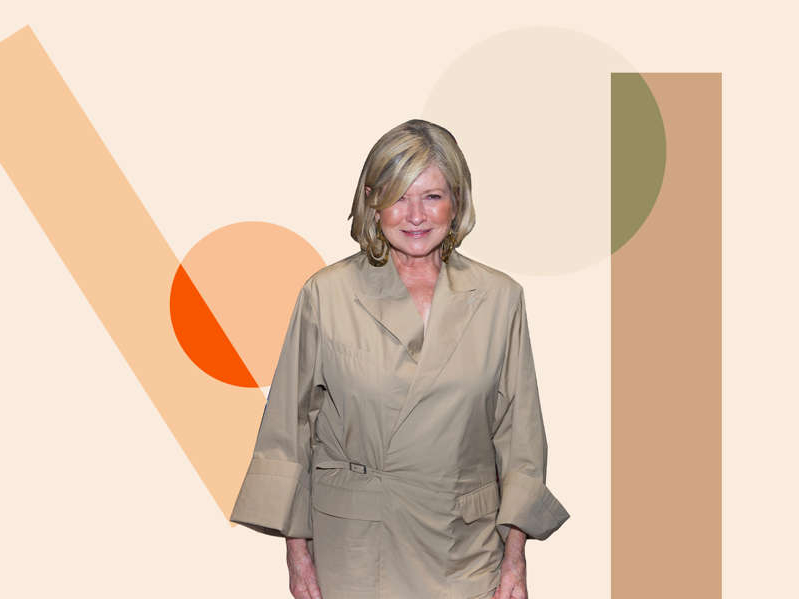 Martha Stewart standing posing for the camera