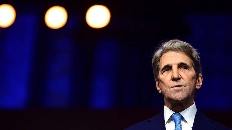 John Kerry wearing a suit and tie: Overnight Energy: Republicans request documents on Kerry's security clearance process| EPA official directs agency to ramp up enforcement in overburdened communities | Meet Flint prosecutor Kym Worthy