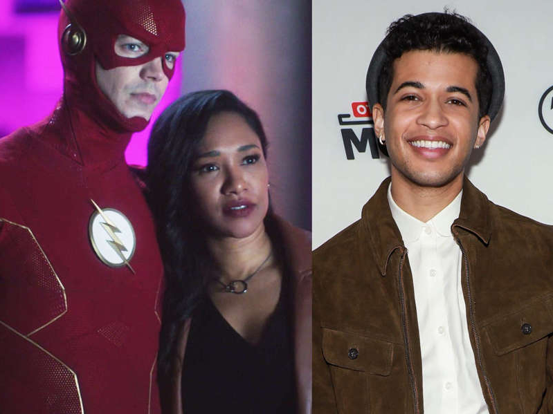 Jordan Fisher, Candice Patton posing for the camera: Jordan Fisher will be portraying Barry Allen and Iris West-Allen's son named Bart Allen on season seven of