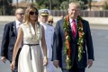 Trump arrives in Hawaii on eve of first official Asia trip