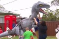 Beloved front yard dinosaur targeted by arsonist