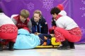 Elise Christie taken to hospital after semi-final crash
