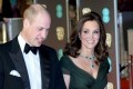 Kate Middleton Wows in Green Gown at the BAFTAs Amid Actresses Wearing Black for Time's Up