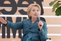 Clinton praises Florida students for standing up to 'disgusting smears'