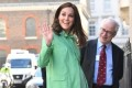 Kate Middleton Steps Out in Bright Green for One of Her Final Engagements Before Giving Birth