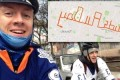 Dedicated Leafs fans spell 'Buds All Day' message with tricky bicycle route